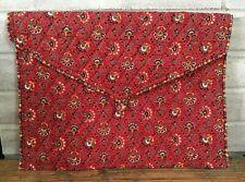 Vera Bradley Designs PROVINCIAL RED Fabric Organizer Lingerie Envelope Bag USA