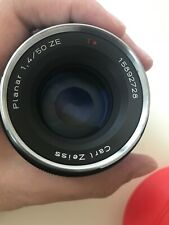 ZEISS Planar T 50mm f/1.4 ZF MF ZE Lens For Canon with Zeiss UV Filter