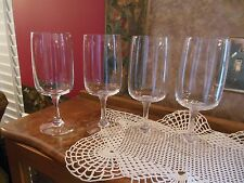 Lot of 4 Fostoria Crystal Clear Glamour Tulip Wine Water Glasses Goblets Stems