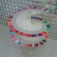 Nail Art Tips Polish 120 Colors Pop Sticks Practice Fan Rack Display Stand