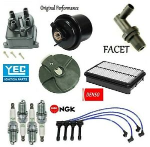Tune Up Kit Filters Cap Rotor NGK Wires & Plugs for Honda CR-V 2000