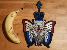 GIANT OWL SEW ON PATCH moth butterfly occult gothic punk bird cage crown wing 5W