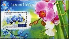 GUINEA 2015 ORCHIDS SOUVENIR SHEET   MINT NEVER HINGED