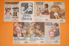 lotto 7 pubblicità topolino anni 80 bambole effe franca advertising vintage doll