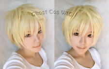 APH AxisPowers Hetalia UK England Cosplay Costume Party Hair Wig + Free Wig Cap