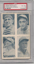 1936 EXHIBITS  4 ON 1 BERRY PUCCINELLI HIGGINS JOHNSON PSA 4