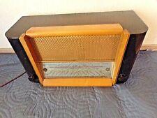 Ancien poste de radio TSF-Henry Brun avec caisse en bois-fonctionne