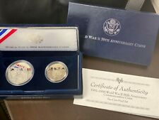 1993 Us World War Ii 50th Anniv - Two (2) Coin Commemorative Proof Set with Coa