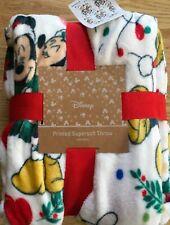 Disney Mickey & Minnie Mouse Christmas soft fleece blanket throw