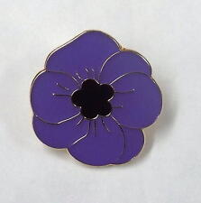 Pack of 20 x Purple Poppy Lapel Badges honouring animals lost in war