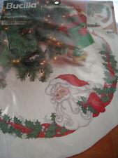 "Christmas Bucilla Holiday Cross Stitch 11 Count Tree Skirt Kit,SANTA,83694,42"""