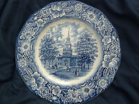 Vintage 1970's Staffordshire Ironstone Liberty Blue Dinner Plate