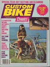 Custom Bike March 1982 How to Gold Leaf, Gas Tank Dent Removal 031617nonDBE