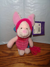 Disney - Gund - Piglet Plush With Hat - 100 Acre Collection - Winnie Pooh - 9""