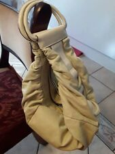 Mimco genuine leather large bag, off white colour. Used