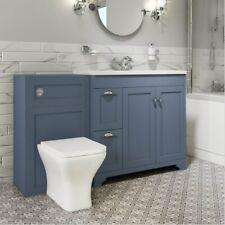 1400mm Combined Square Matt Blue Vanity Unit Toilet & Sink Bathroom Furniture