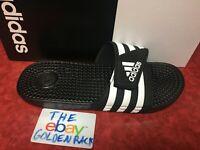 4eafb8002 Mens Adidas Adissage Black Slides Shower Sandals Athletic Sport F35580 Size  7-12