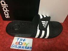 c57825121649 Mens Adidas Adissage Black Slides Shower Sandals Athletic Sport F35580 Size  7-12