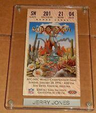 Jerry Jones Autographed Dallas Cowboy Super Bowl Ticket Stub 1996