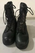 Belleville British Issue Black Leather Goretex Vibram Combat Boots 6.5W USED