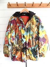 VTG. FIRE AND ICE by Bogner Pullover Puffer Jacket Parka Baroque Montage Print-S