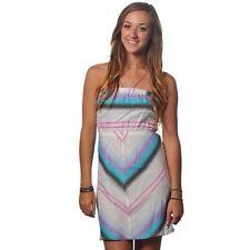 Billabong Campbell Tube Dress L Strapless Multi-Color Stripe Cotton Mini $40
