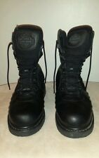 Womens HARLEY DAVIDSON black leather motorcycle lace front boots.  Size 7