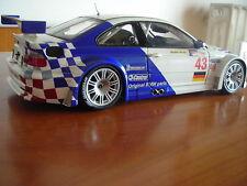 1:18 Minichamps BMW m3 e46 GTR Ekblom/D. Müller 2001 ottime condizioni NO BOX