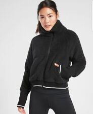 Athleta Tugga Sherpa Jacket, BLACK SIZE ST Small Tall #486693