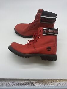 TIMBERLAND WOMEN'S PREMIUM 6 INCH WATERPROOF NUBUCK LEATHER BOOTS size 7.5 Y316