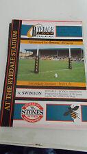 Ryedale-York v Swinton Lions programme 13.1.91