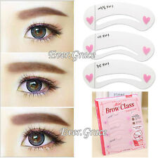 3 Styles Eyebrow Drawing Card Stencil Grooming Shapping Assistant Eye Brow Class