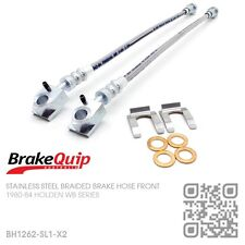 BRAIDED STAINLESS FRONT BRAKE HOSES [HOLDEN WB STATESMAN DEVILLE/CAPRICE] SILVER
