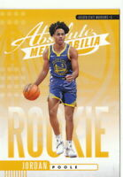 19/20 2019/20 Panini Absolute Yellow Rookies #25 Jordan Poole Warriors