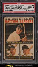 1964 Venezuela Topps American League batting leaders #8 PSA 2 GD