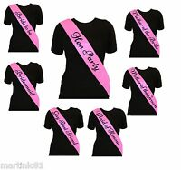 PINK ELEGANT HEN PARTY SASH SASHES GIRLS DO NIGHT OUT ACCESSORIES WEDDING BRIDE