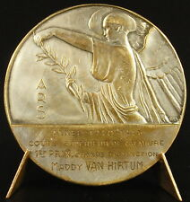 Médaille Art déco Roi des Belges Léopold III Maddy Van Hirtum 1941 Belgium Medal