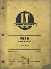 I&T FORD Series #8000 No. FO-25 Tractor Shop Manual