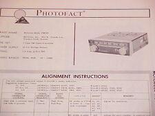 1963 MOTOROLA FM TUNER-CONVERTER RADIO SERVICE MANUAL FMC62 CHEVROLET FORD BUICK