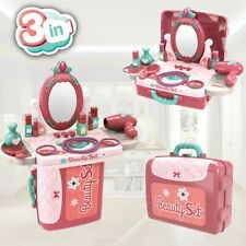 2 In 1 Vanity Pretend Play Dressing Table & Suitcase Beauty Make Up Set