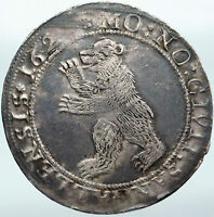 1620-1 SWITZERLAND Swiss Canton SAINT GALLEN Antique Silver 2 Thaler Coin i88147