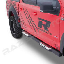 "15-19 Ford F150 Super Cab 6"" Step Steel Metal Running Board Side Steps Nerf Bar"