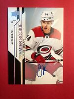 2018-19 Upper Deck Premier Rookie Autograph #51 Jake Bean Carolina Hurricanes RC