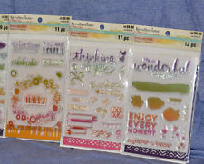 Recollections Clear Stamps: Color Splash - Stamp and Stencil Lot : 3 PACK-new!