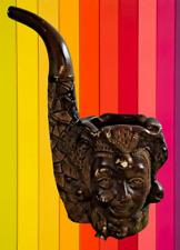 Ancien Cendrier Pipe Fantaisie statue Divinité Indienne Plâtre Pyrogène 1970