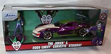 The Joker & 2009 Chevy Corvette Stingray 1-24 Diecast Car (Joker) Jada 31199