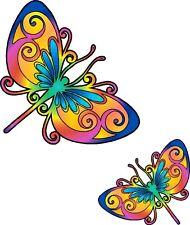 Multicoloured Dragonfly Car Van Camper Bodywork Sticker LSDra1