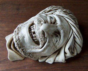 ESTATE FIND Vintage BOSSONS HEAD FACE MASK WALL ART