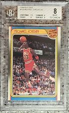 1988-89 Fleer Basketball Michael Jordan ALL-STAR #120 BGS 8 NEAR MINT-MINT PSA