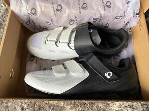 Pearl Izumi Select Road V5 Men's Bike Shoes 8.5 US 42 New NIB White And Black